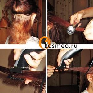 полировка волос, секутся волосы