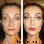 макияж на хэллоуин до и после