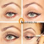 макияж глаз ретро