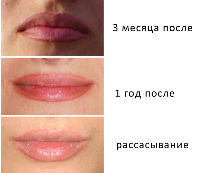 татуаж губы фото