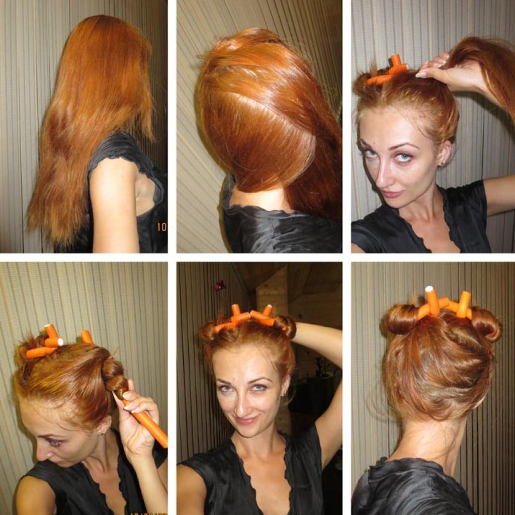 Прическа для кручение волос