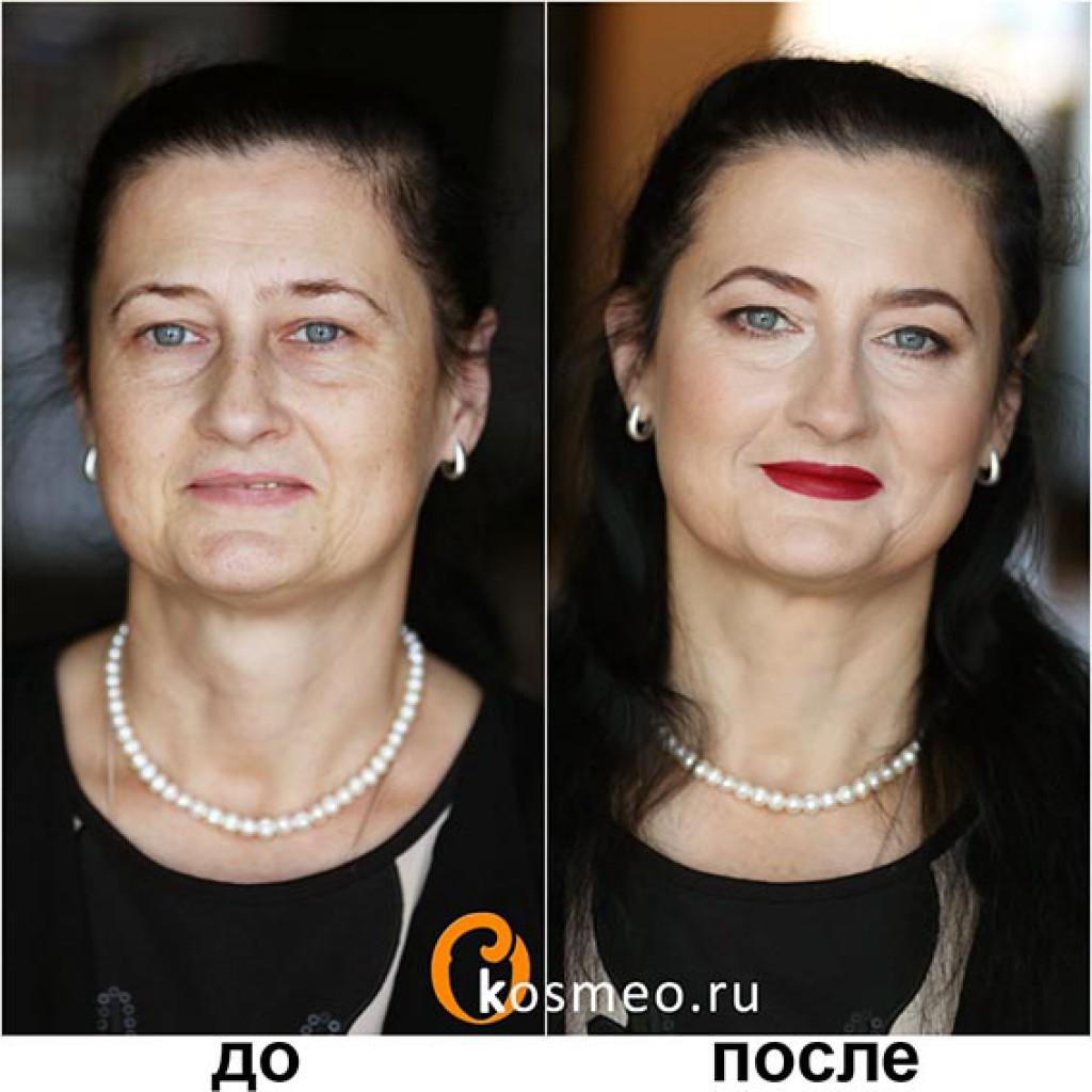 Антивозрастной макияж с