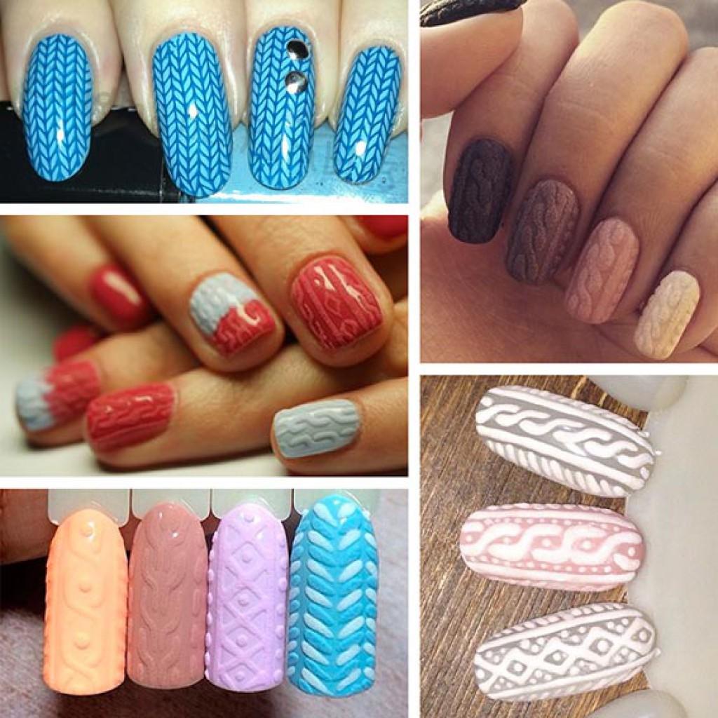 Лаки объемного дизайна ногтей