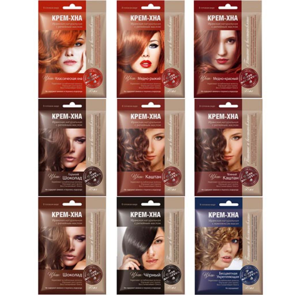 Какие цвета хны бывают для волос